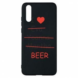 Etui na Huawei P20 I love only beer