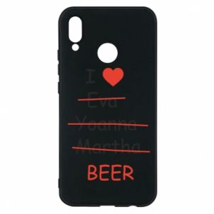 Etui na Huawei P20 Lite I love only beer