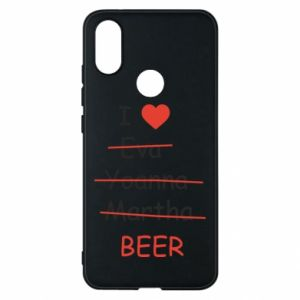 Etui na Xiaomi Mi A2 I love only beer - PrintSalon