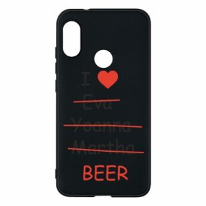 Mi A2 Lite Case I love only beer