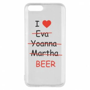 Etui na Xiaomi Mi6 I love only beer - PrintSalon