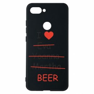 Xiaomi Mi8 Lite Case I love only beer