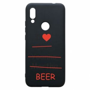 Etui na Xiaomi Redmi 7 I love only beer - PrintSalon