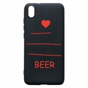 Etui na Xiaomi Redmi 7A I love only beer - PrintSalon