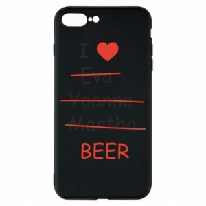 Etui na iPhone 7 Plus I love only beer - PrintSalon