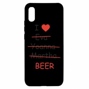 Xiaomi Redmi 9a Case I love only beer