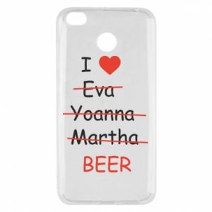 Xiaomi Redmi 4X Case I love only beer