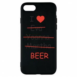 Etui na iPhone 8 I love only beer - PrintSalon