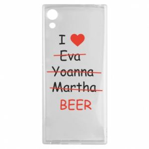 Sony Xperia XA1 Case I love only beer