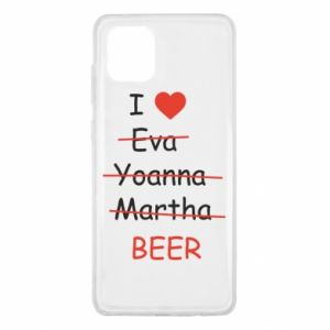 Samsung Note 10 Lite Case I love only beer