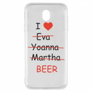 Samsung J7 2017 Case I love only beer