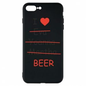 Etui na iPhone 8 Plus I love only beer - PrintSalon