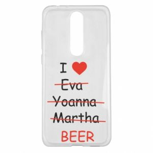 Nokia 5.1 Plus Case I love only beer