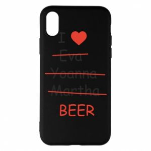 Etui na iPhone X/Xs I love only beer - PrintSalon