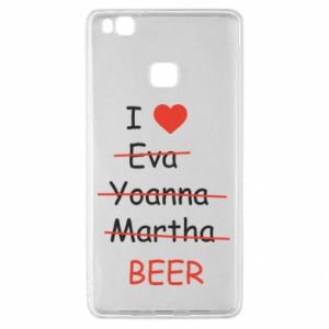 Huawei P9 Lite Case I love only beer