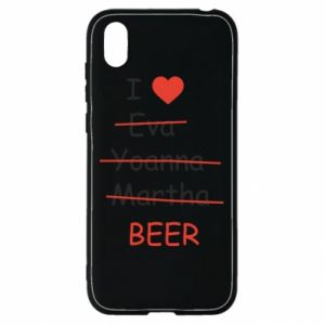Huawei Y5 2019 Case I love only beer