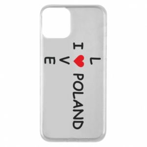 Phone case for iPhone 11 I love Poland crossword