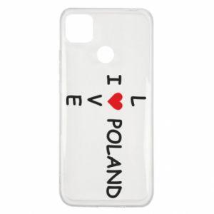 Xiaomi Redmi 9c Case I love Poland crossword