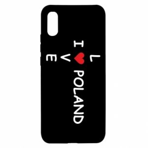 Xiaomi Redmi 9a Case I love Poland crossword