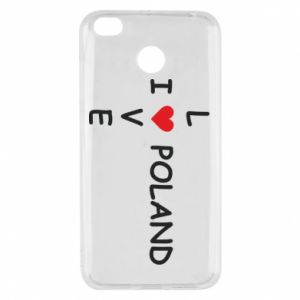 Xiaomi Redmi 4X Case I love Poland crossword