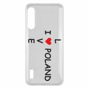 Xiaomi Mi A3 Case I love Poland crossword