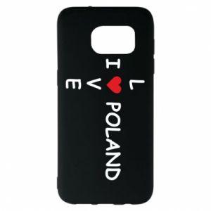 Samsung S7 EDGE Case I love Poland crossword