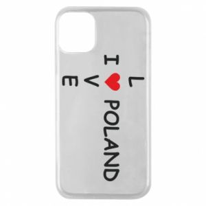 Phone case for iPhone 11 Pro I love Poland crossword