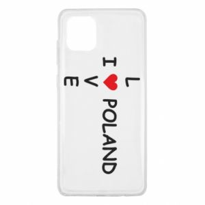 Samsung Note 10 Lite Case I love Poland crossword