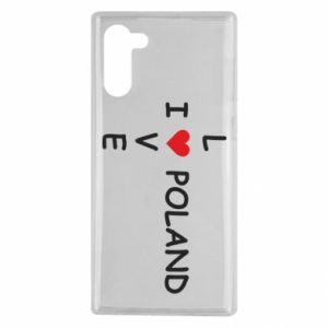 Samsung Note 10 Case I love Poland crossword
