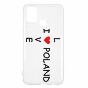 Samsung M31 Case I love Poland crossword