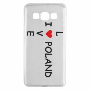 Samsung A3 2015 Case I love Poland crossword