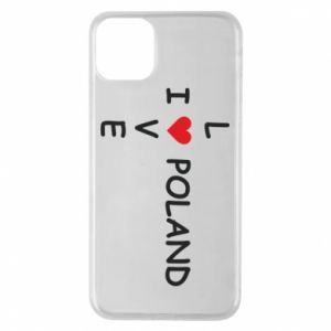 Phone case for iPhone 11 Pro Max I love Poland crossword