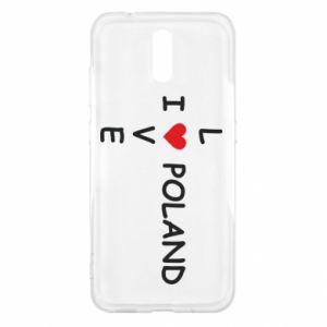 Nokia 2.3 Case I love Poland crossword