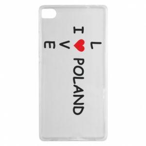 Huawei P8 Case I love Poland crossword