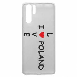 Huawei P30 Pro Case I love Poland crossword