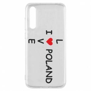 Huawei P20 Pro Case I love Poland crossword