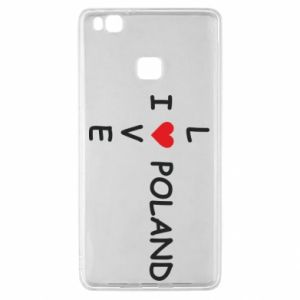 Huawei P9 Lite Case I love Poland crossword
