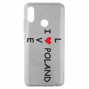 Huawei Honor 10 Lite Case I love Poland crossword