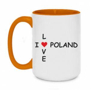 Kubek dwukolorowy 450ml I love Poland crossword