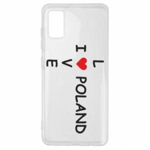 Samsung A41 Case I love Poland crossword