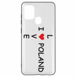 Samsung A21s Case I love Poland crossword