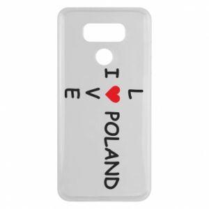 LG G6 Case I love Poland crossword
