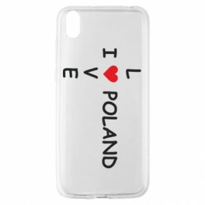 Huawei Y5 2019 Case I love Poland crossword