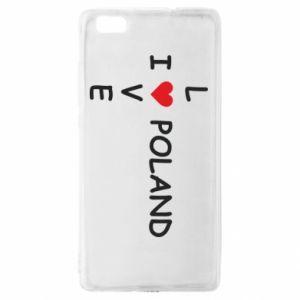 Huawei P8 Lite Case I love Poland crossword