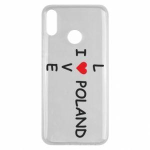 Huawei Y9 2019 Case I love Poland crossword