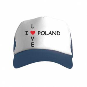 Kid's Trucker Hat I love Poland crossword