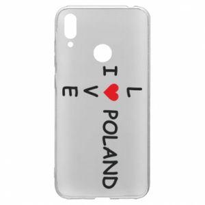 Huawei Y7 2019 Case I love Poland crossword