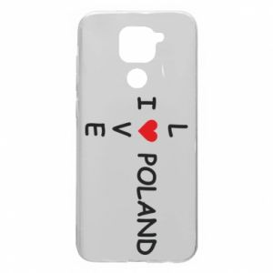 Xiaomi Redmi Note 9 / Redmi 10X case % print% I love Poland crossword