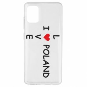 Samsung A51 Case I love Poland crossword
