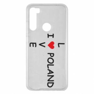 Xiaomi Redmi Note 8 Case I love Poland crossword